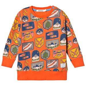 Indikidual All Over Patches Print Sweatshirt Orange 4-5 years