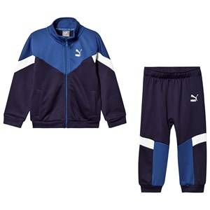 Puma Minicats MCS Jacket and Sweatpants Set Navy/Blue 9-12 months