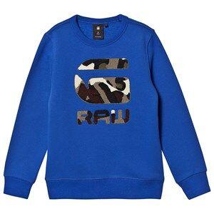 G-STAR RAW Camo Chenille Logo Sweatshirt Blue 16 years