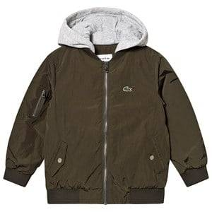 Lacoste Hooded Jacket Khaki 6 years