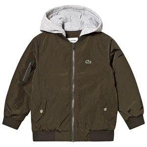 Lacoste Hooded Jacket Khaki 5 years