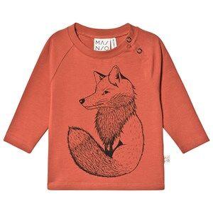 Image of MAINIO Clever Fox Tricot T-Shirt Mango 62/68 cm