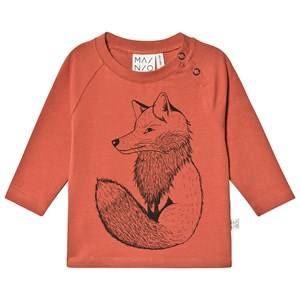 MAINIO Clever Fox Tricot T-Shirt Mango 62/68 cm