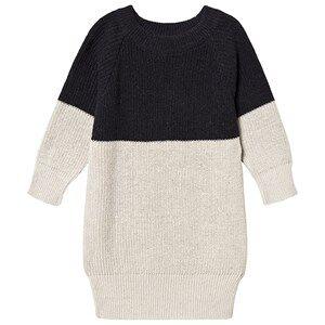 Papu Patent Dress Black / Cream 98/104 cm