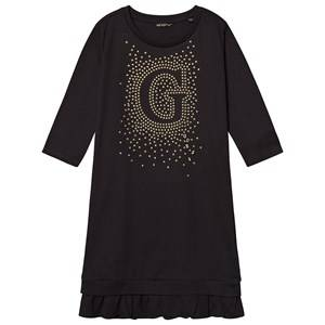 Image of Guess G Star Sequin Dress Black and Gold 7 years