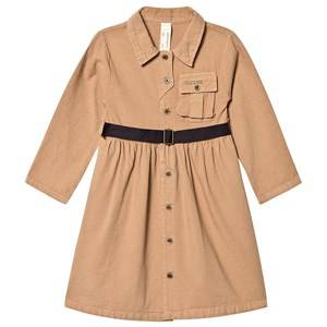 Creative Little Creative Factory Cotton Work Dress with Belt Camel 4 years