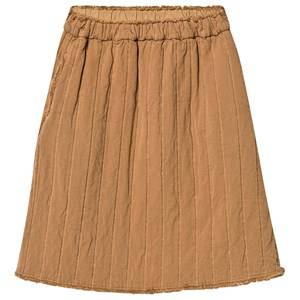 Creative Little Creative Factory Camel Quilted Frayed Detail Skirt 2 years