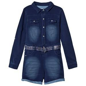 Image of Guess Belted Jumpsuit Blue 16 years