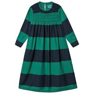 Image of Bobo Choses Big Stripes Flounce Dress Peppergreen 4-5 Years