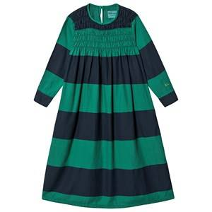Image of Bobo Choses Big Stripes Flounce Dress Peppergreen 2-3 Years