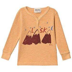 Bobo Choses Alaska Buttons T-Shirt Gold Earth 24-36 Months