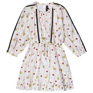 Velveteen Immi Floral Lurex Dress Cream 5 years