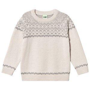 FUB Nordic Sweater Ecru/Light Grey 110 cm (4-5 Years)