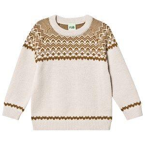 FUB Nordic Sweater Ecru/Sienna 110 cm (4-5 Years)