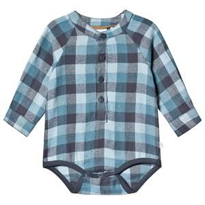 Image of Minymo Baby Body Shirt Ombre Blue 56 cm (1-2 Months)