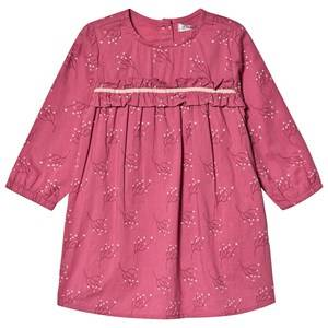 Image of Minymo Dress LS With Flower Print Rose Wine 86 cm (1-1,5 Years)