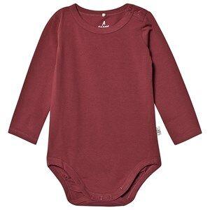 A Happy Brand Long Sleeve Baby Body Burgundy 62/68 cm