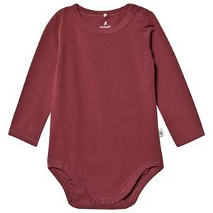 A Happy Brand Long Sleeve Baby Body Burgundy 62/68 cm