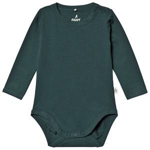 A Happy Brand Long Sleeve Baby Body Forest Green 86/92 cm