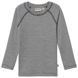 Image of Wheat Wool Tee Navy Stripes 128 cm (7-8 Years)