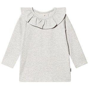A Happy Brand Flounce Top Grey Melange 98/104 cm