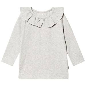 A Happy Brand Flounce Top Grey Melange 86/92 cm