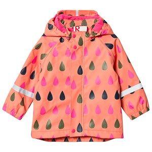 Reima Koski Rain Coat Bright Salmon Raincoats