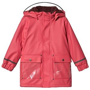 Didriksons Ekhold Coat Raspberry Red Raincoats