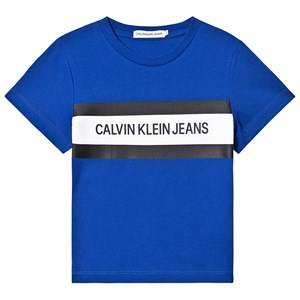 Image of Calvin Klein Jeans Color Block Branded Tee Blue 8 years