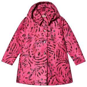 Marni Mini Me Longline Cat Coat Pink Winter coats