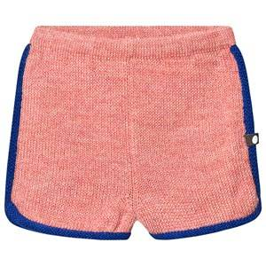 Oeuf 70s Shorts Peony and Electric Blue 4 Years