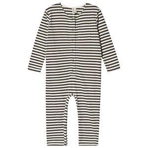 Gray Label Stripe One-Piece Moss/Cream 3-4 Years