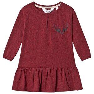 ebbe Kids Isadora Dress Cherry Red and Melange 80 cm (9-12 Months)
