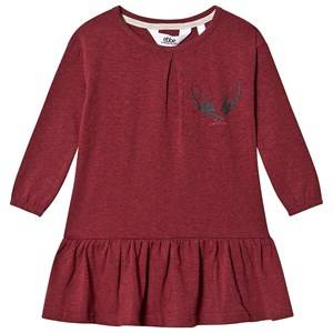 ebbe Kids Isadora Dress Cherry Red and Melange 86 cm (1-1,5 Years)