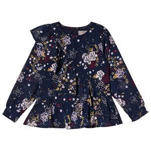Creamie Floral Chiffon Blouse Total Eclipse 104 cm (3-4 Years)