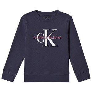 Image of Calvin Klein Jeans Monogram Sweatshirt Navy 8 years