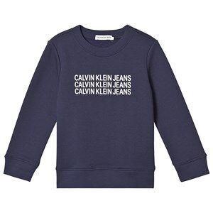 Image of Calvin Klein Jeans Triple Logo Sweater Navy 10 years
