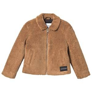 Image of Calvin Klein Jeans Faux Fur Jacket Cashew 14 years