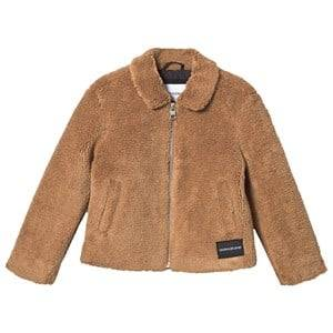 Image of Calvin Klein Jeans Faux Fur Jacket Cashew 12 years