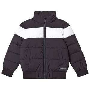 Image of Calvin Klein Jeans Color Block Puffer Jacket Black/White 4 years