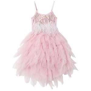 Tutu Du Monde Birds of Paradise Feather Embellished Tutu Dress Pink 12 years
