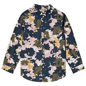 Bonpoint Flower Camo Shirt Navy 12 years
