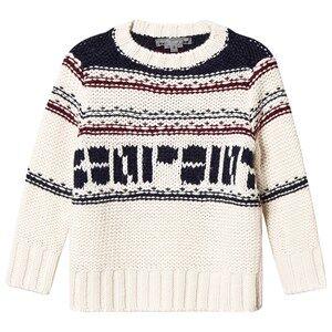 Bonpoint Logo Knit Sweater Cream 3 years
