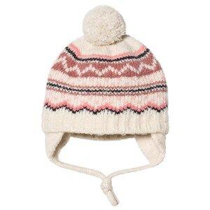 Barts Cream & Pink Fairisle Knit Thumper Pom Pom Beanie Beanies