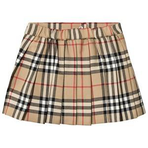 Burberry Vintage Check Pleated Skirt Archive Beige 12 months