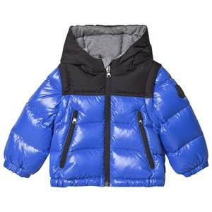 Moncler Branded Hood Down Jacket Royal Blue 2 years