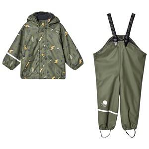 Celavi Cool Dude Rain Set Army 100 cm (3-4 Years)