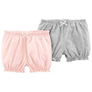 Carters 2-Pack Pull-On Bubble Shorts Pink/Heather 24 Months