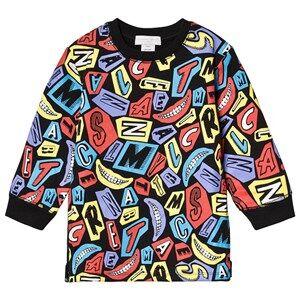 Stella McCartney Kids Logo and Smile Sweatshirt Dress Black 14 years
