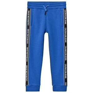 Image of Calvin Klein Jeans Logo Tape Sweatpants Blue 14 years